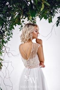 Brautkleid mit schönen Rückenausschnitt