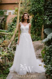 Brautkleid Handarbeit mit Tüll und Spitze