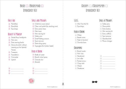 Emergency Kit List Downloadable