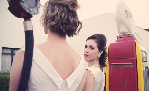 50s bridal photoshoot10