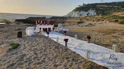 הצעת נישואין בראש הנקרה חוף בצפון אוהד & מוריה(21.5.20)00003