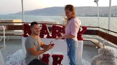 הצעת נישואין בספינה בלידו בכנרת טבריה דני & קריסטינה(17.9.20)00113