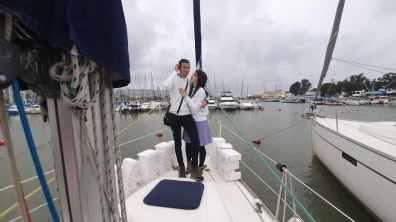 הצעת נישואין ביאכטה בסירה בנמל חיפה ים התיכון צפון(11.3.21)00109