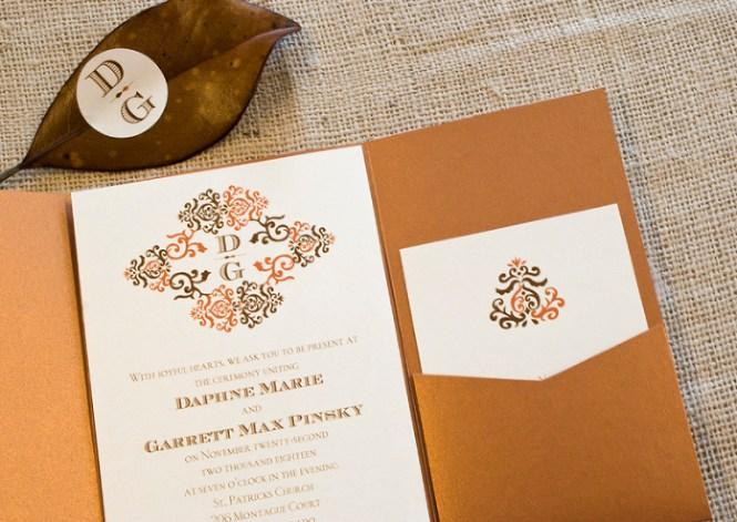 Fall Themed Tampa Bay Wedding Invitations Invitation