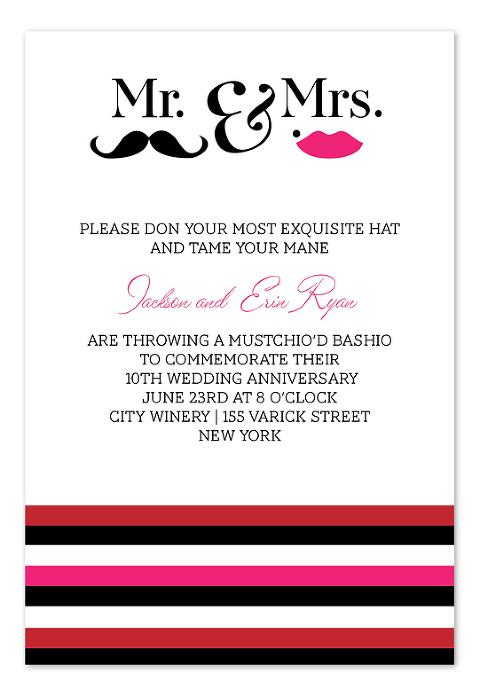 Mustache Wedding Invitations Invitationconsultants Com 1