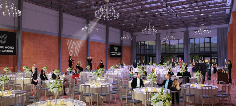 Downtown Tampa Brick Waterfront Wedding Venue Armature Works