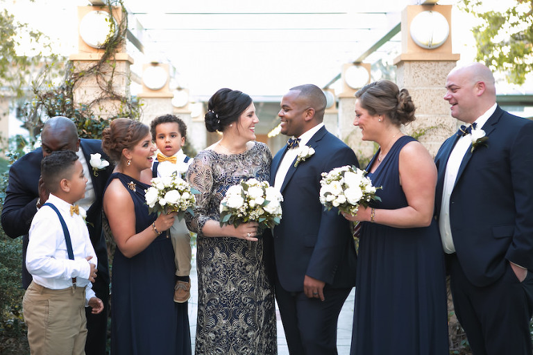 Elegant Navy Blue And Gold Downtown Tampa Wedding