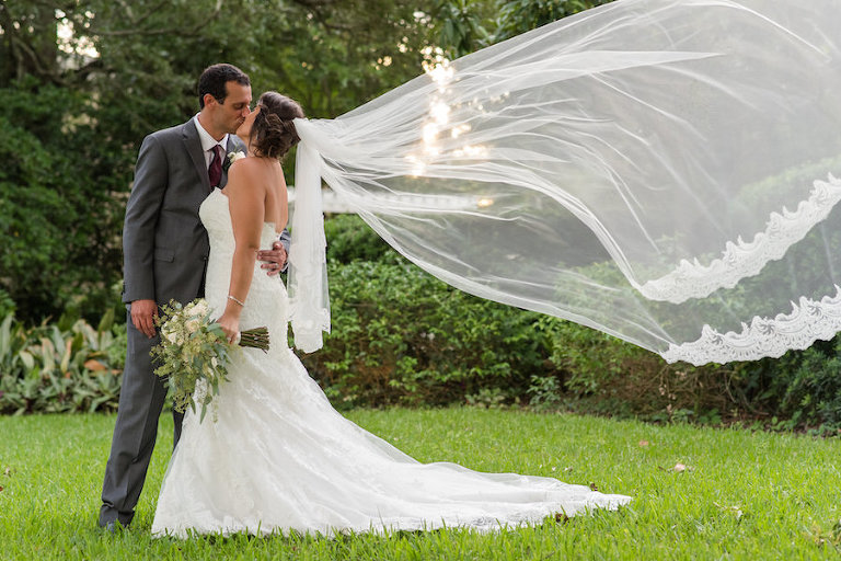 Cream And Bordeaux South Tampa Wedding