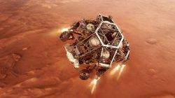好奇心は、ロケット推進の「ジェットパック」、降下段階の下で火星に降ります。