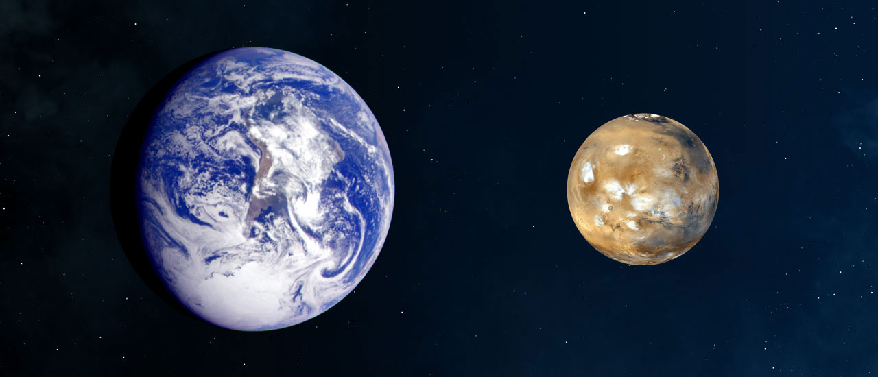 Mars & Earth Comparison