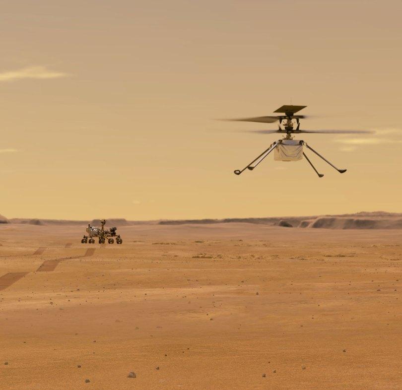 helicopter landing composite crop web - Voo de helicóptero em Marte foi um sucesso (19 de abril 2021)