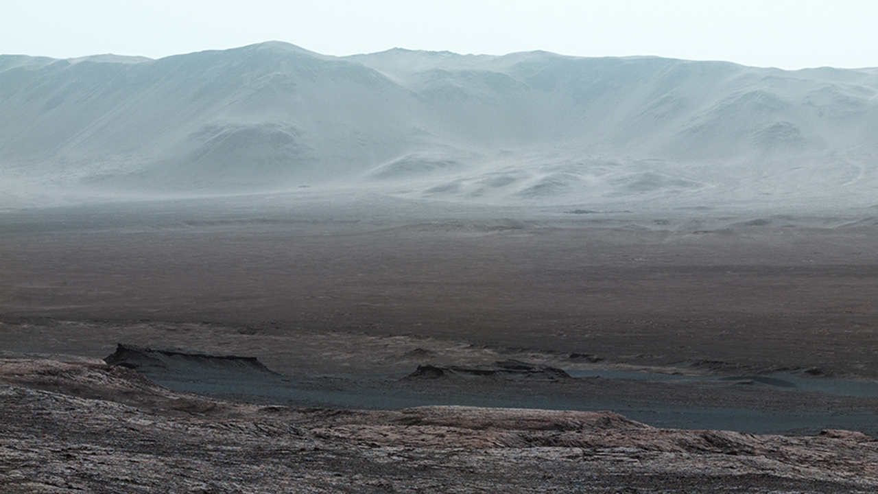 Vista From Mars Rover Looks Back Over Journey So Far