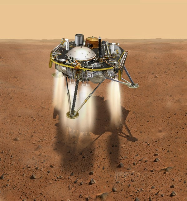 InSight Moments Away From Landing, Top View (Illustration ...
