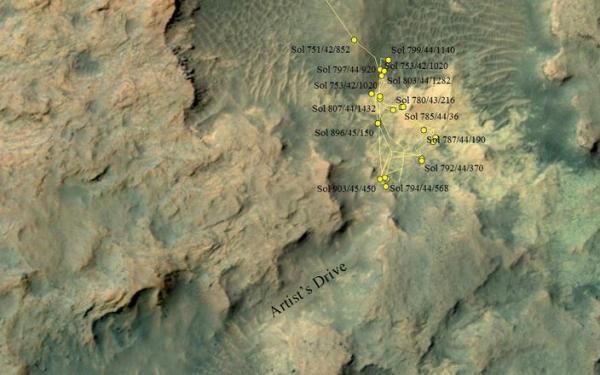 Curiosity Heading Away from 'Pahrump Hills' – NASA's Mars ...