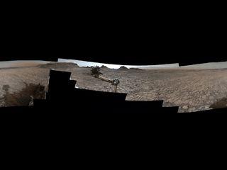 Imagen del panorama de la entrada de Rover a 'Murray Buttes' en Marte