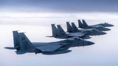 Photo of تشكيل مشترك للقوات الجوية الأميركية والسعودية يحلق فوق الخليج العربي