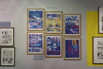 Planches de Ariel Lopez v exposées à la Maison des auteurs