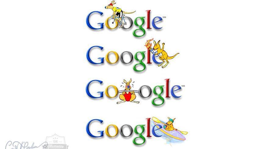 The first Google Doodles by Ian David Marsden