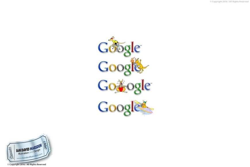 Google Doodles designed by Ian David Marsden