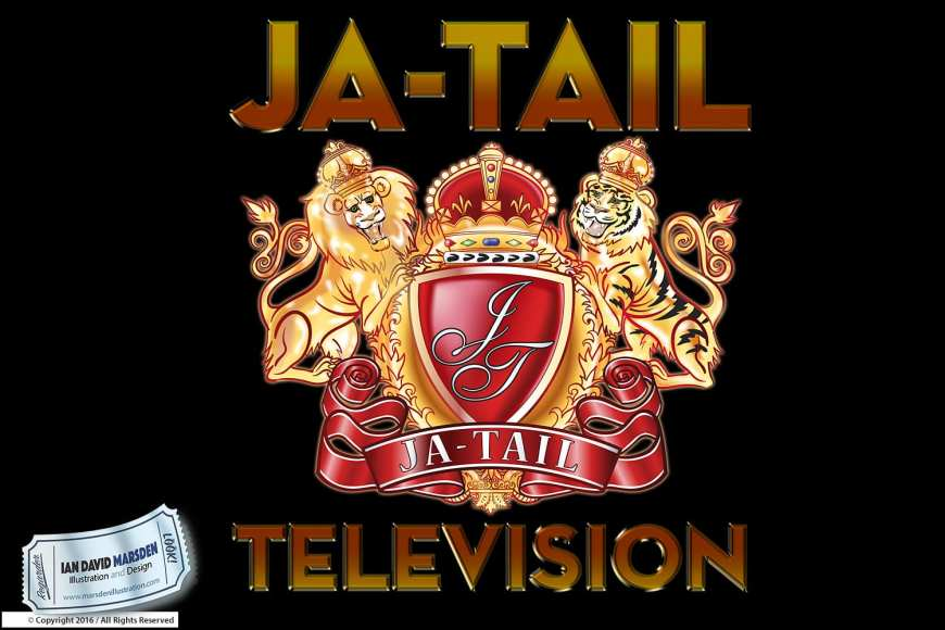 Ja-Tail Entertainment, Television, Beverly Hills Image of logo, character and mascot design by Ian David Marsden