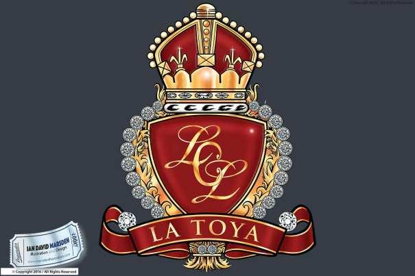La Toya Jackson Logo and Cover Artwork by Ian David Marsden