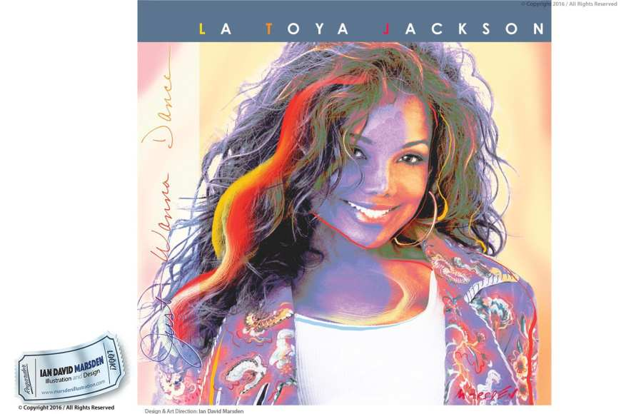 La Toya Jackson Logo and Cover Artwork by Ian David Marsden
