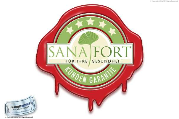 Sanafort Image of logo, character and mascot design by Ian David Marsden