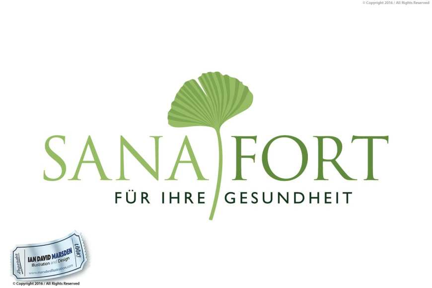 Sanafort Image of logo, character and mascot design by Ian David Marsden
