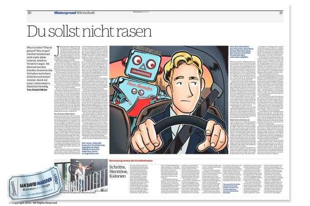 Newspaper Zeitung Illustration von Ian Marsden