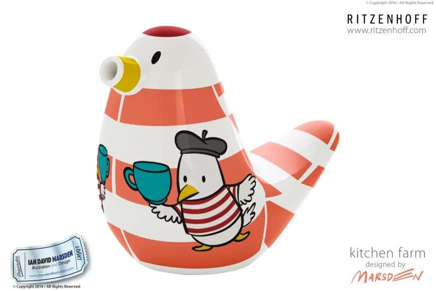 Cute Sugar Bird Design by Ian Marsden