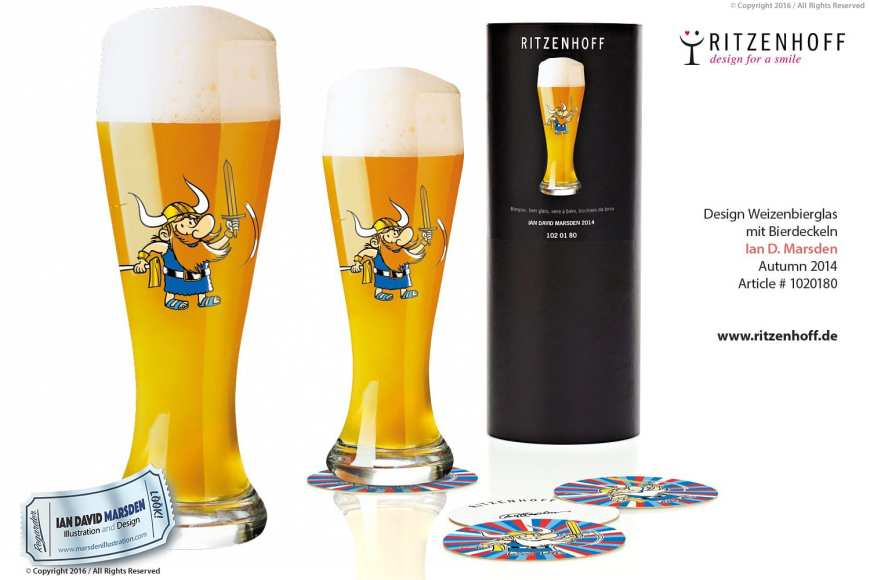 Viking Weizenbeer Glass - RITZENHOFF Design Collection Object by designer Ian David Marsden
