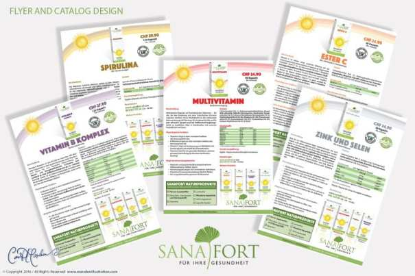 Ad, Flyer and Catalog Design Sanafort