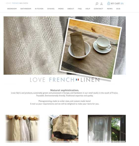 Love French Linen linen products from the south of France