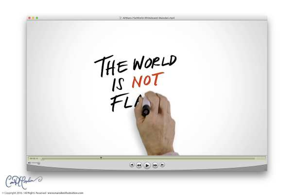 The world is not flat - Whiteboard Explainer Video