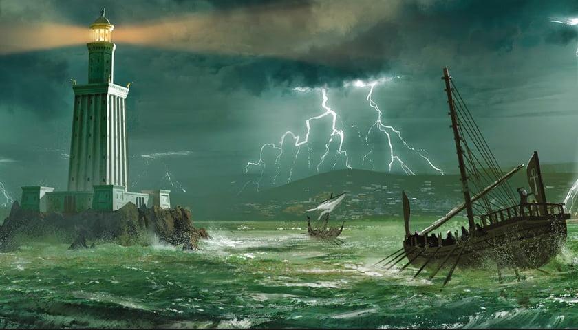 ilustração de O Farol de Alexandria