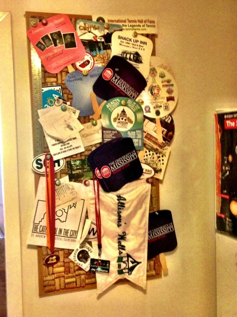 cork board, memorabilia