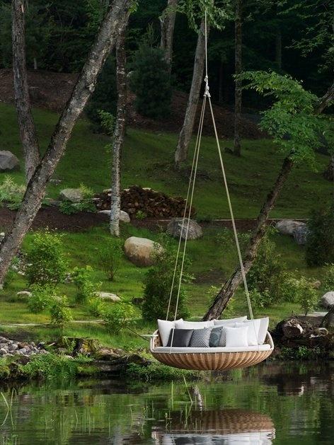 swing, hammock, sit outside
