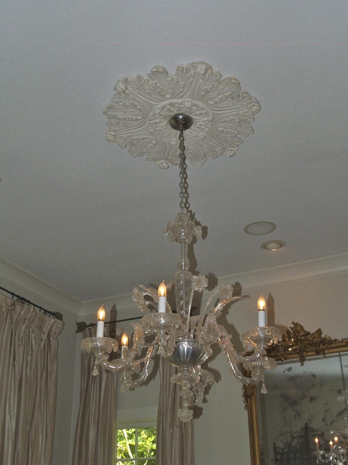 chandelier, molding