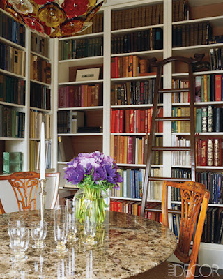 dining room, library