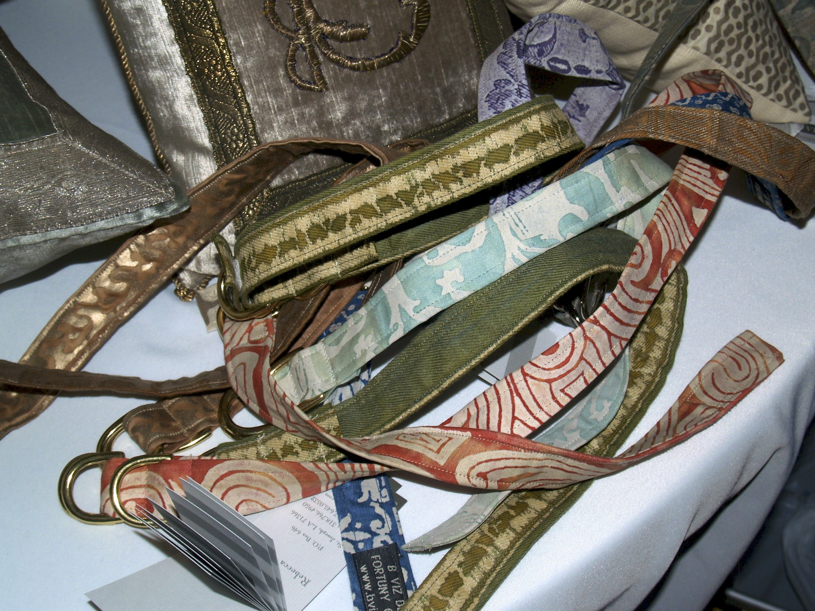 fortuny fabric dog collars