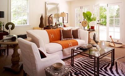 orange Hermes blanket