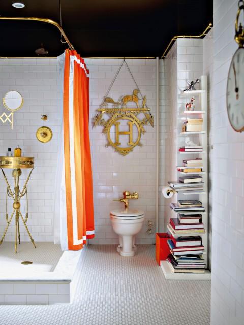 Hermes decor in a bathroom