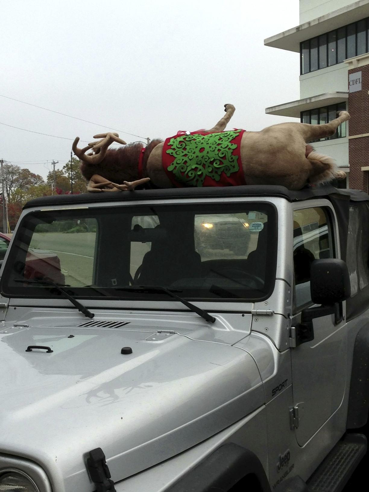Fonzy the Fondren Reindeer