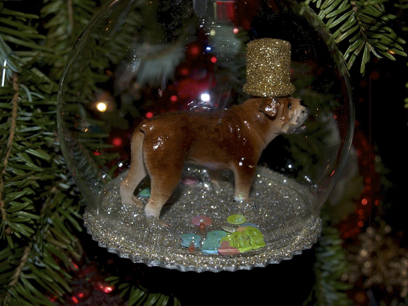 Christmas ornament dog