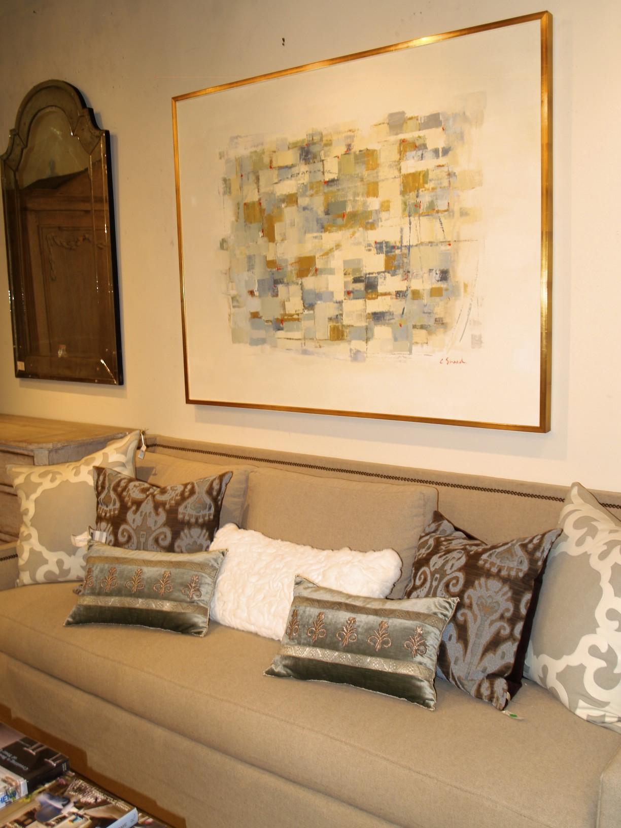 antiques, pillows, artwork