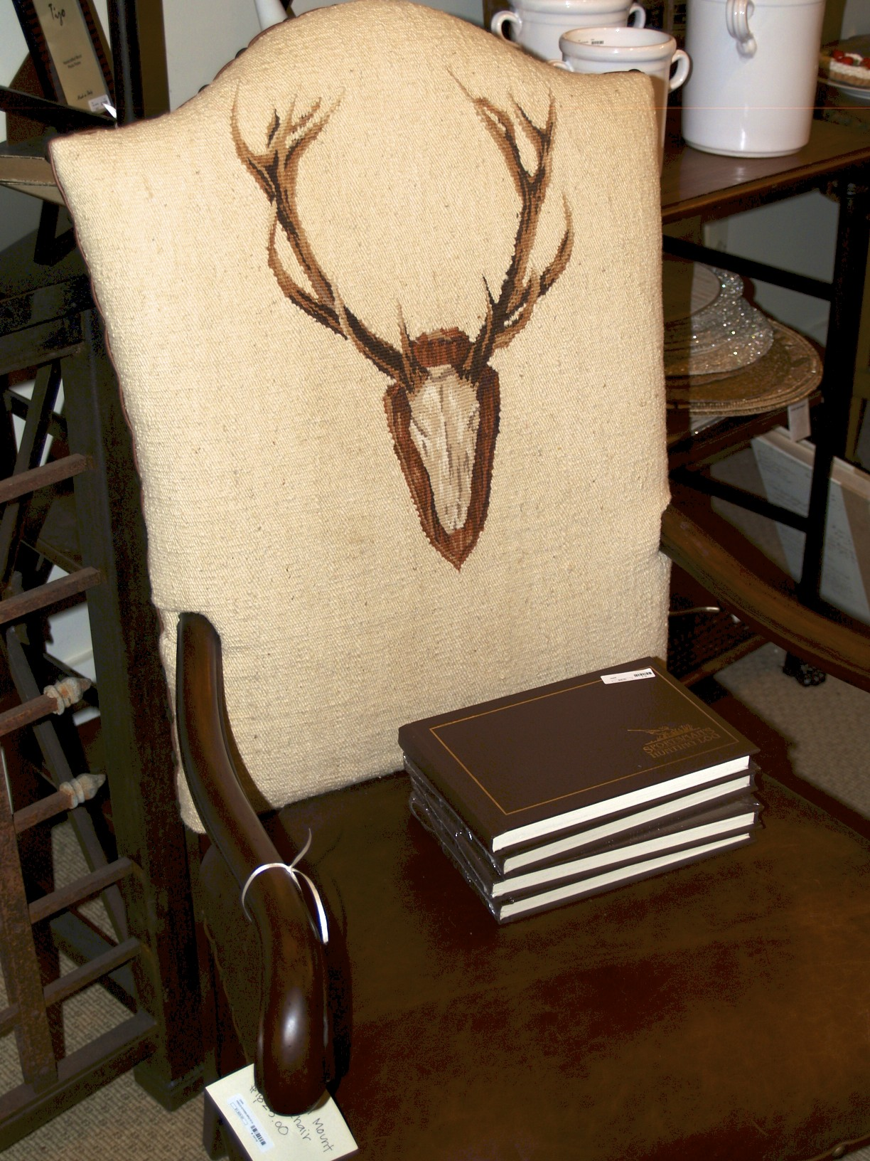 chair with antlers
