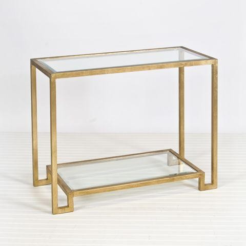 gold Lyle accent table from Worlds Away