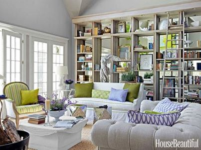 green accents in room