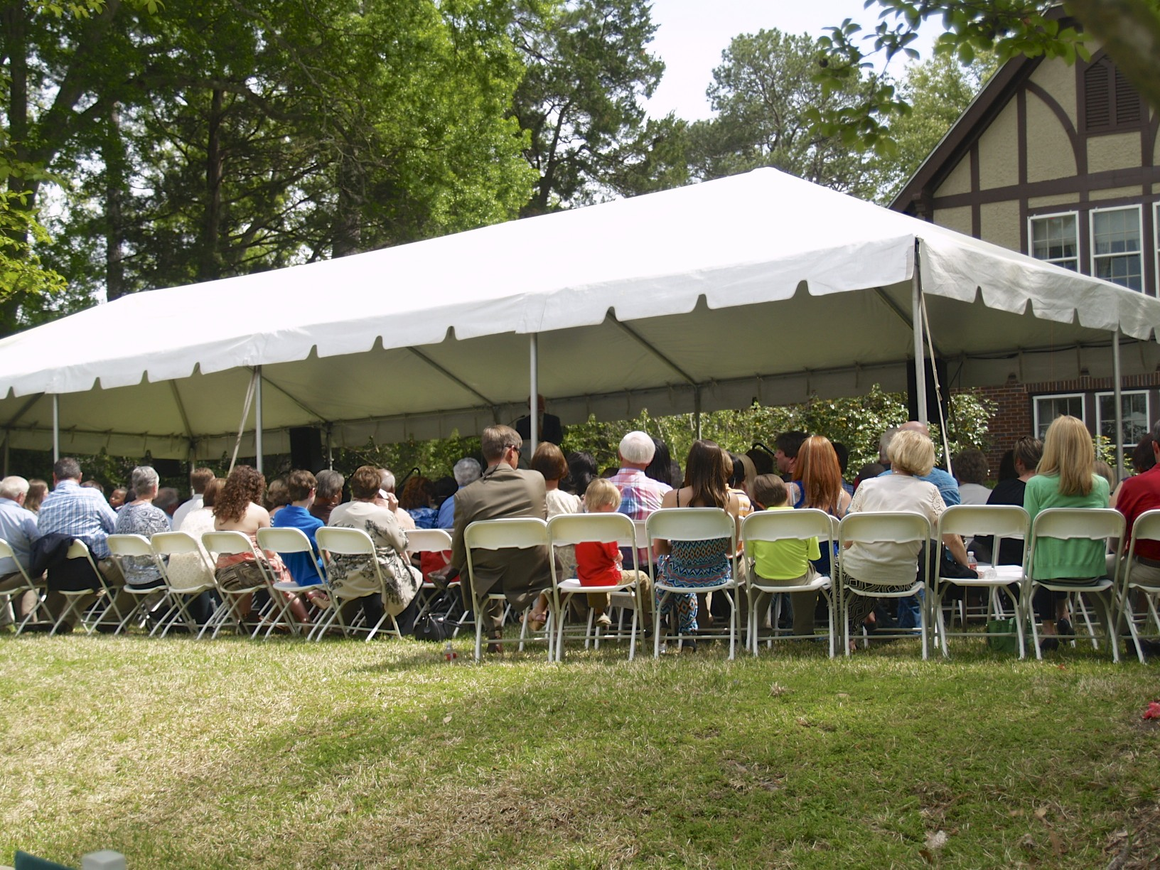 Scholastic Writing Awards Ceremony in the Eudora Welty garden