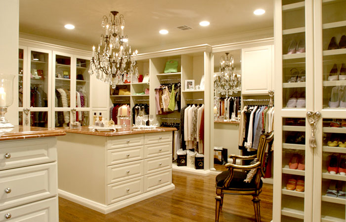 closet by cabinets beyond
